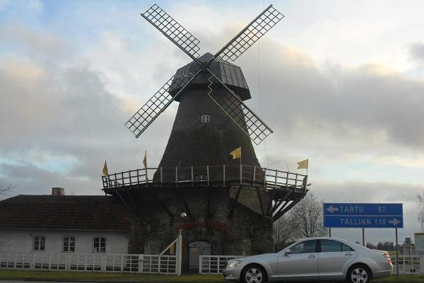 The windmill as seen from the highway