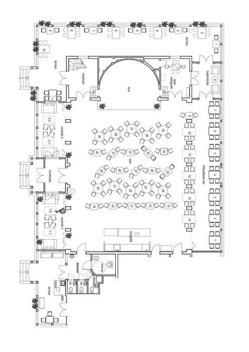 Floor plan of Kuursaal
