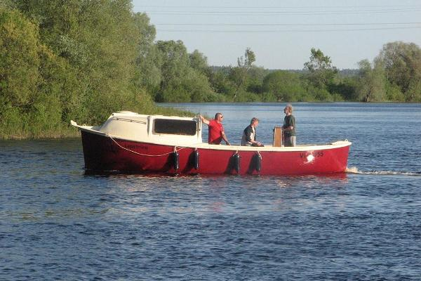 "Boat ""Lepatriinu"" on Lake Võrtsjärv"