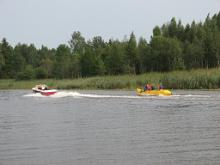 Banana rides on Lake Võrtsjärv and River Emajõgi