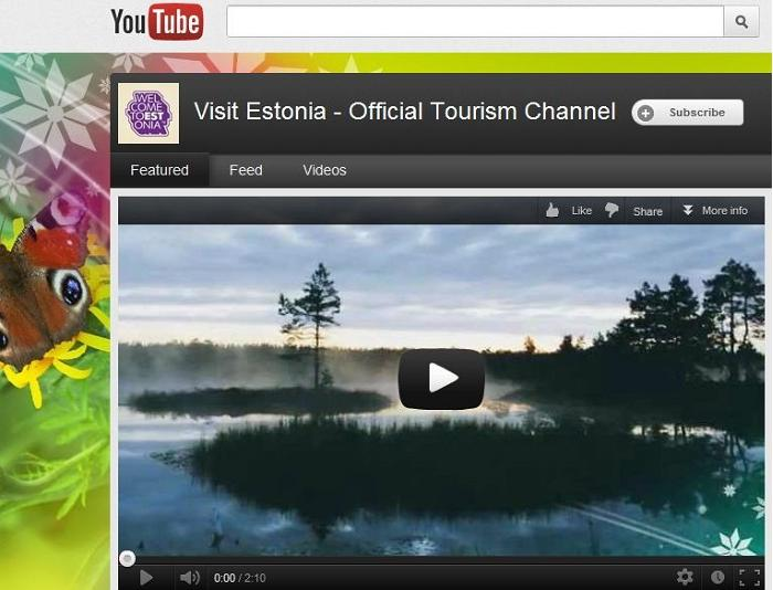 Den officiella YouTube-kanalen för visitestonia.com