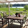 View of Lake Vaskna from the terrace of the Vaskna Tourist Farm. 