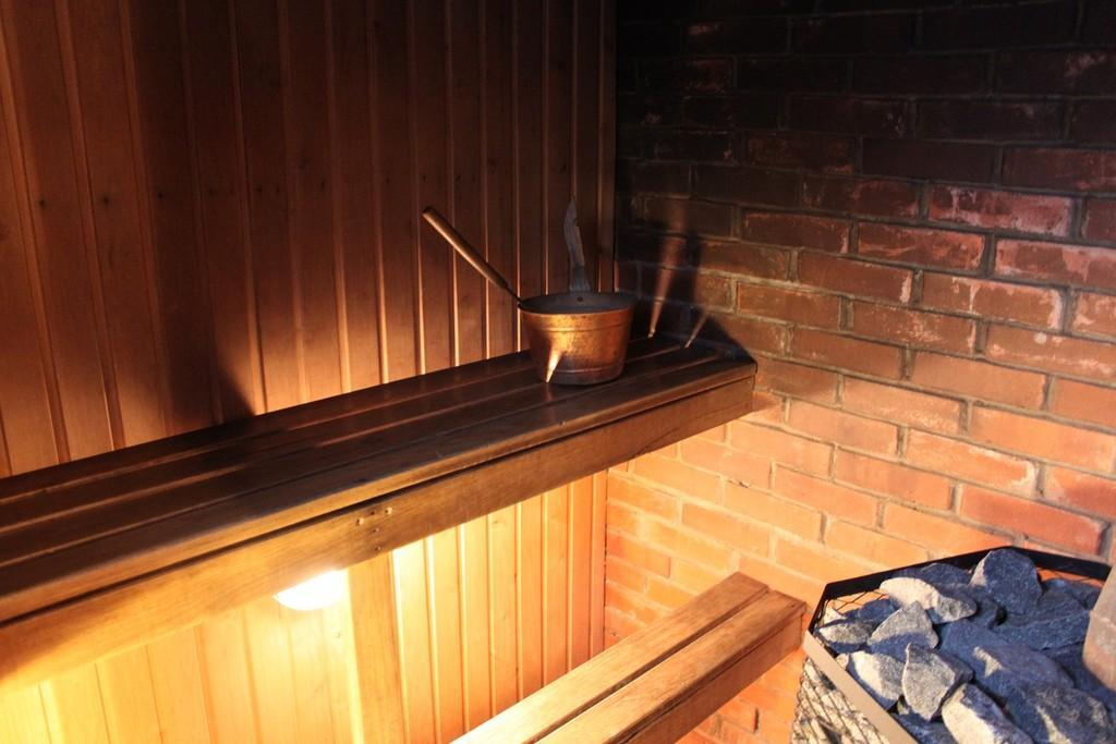 After being outside you should head straight for the sauna.