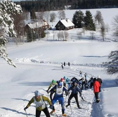 The Haanja Ski Marathon passes Vaskna Tourist Farm.