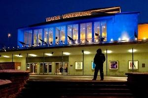 Vanemuine Theatre — Grand Building at night