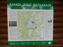 Hiking trail around Lake Kavadi.