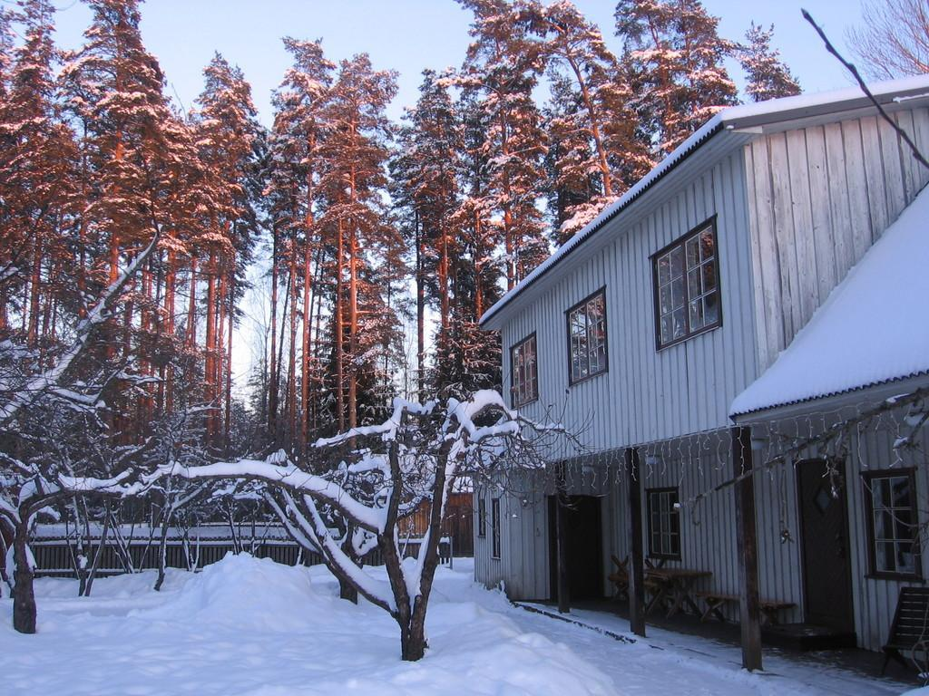 Männi Farm Holiday House in winter