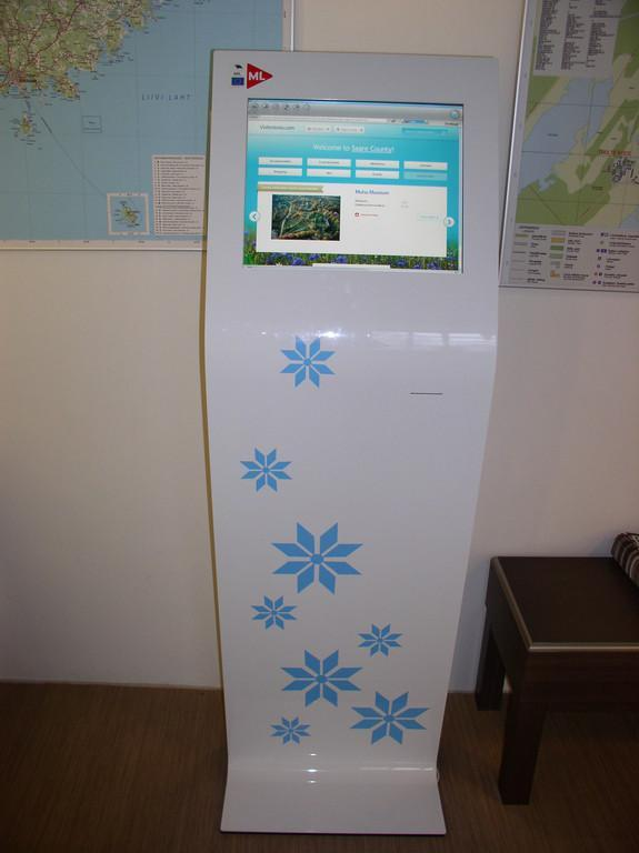 Information kiosk at the Tourist Information Centre