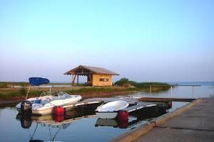 Boat harbour with our barbecue area in the background