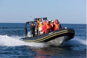 Speedboat takes you to the island
