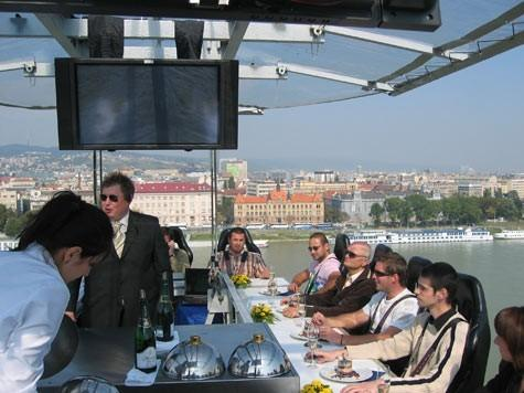 Dine in the sky, high above the magnificent city of Tallinn