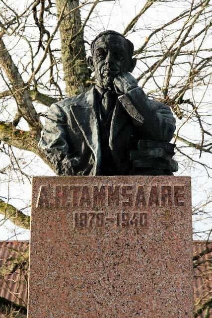 Monument to AH Tammsaare at Järva-Madise
