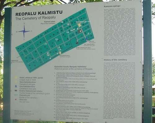 Reopalu Cemetery in Paide – Information Stand