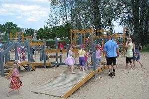 Playground on the beach at Lake Viljandi