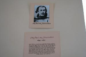 A. J. von Krusenstern memorial room – display about Krusenstern's grandson