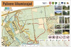 Map of Palivere hiking trails