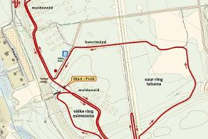 Map of the 5 km trail