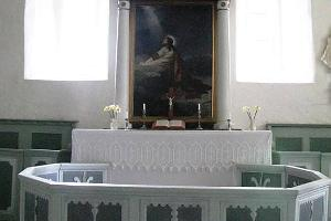 The altar of Noarootsi Church