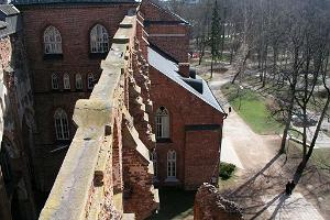 Looking from the tower down at the museum