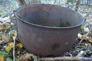 An old cauldron in Kurese village