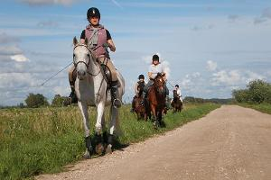 Riding on the terrain on Sassi Riding Farm