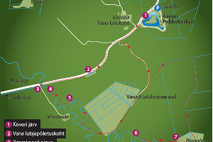 Map of the hiking trail