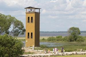An observation tower at the Visitor Centre of Lake Võrtsjärv
