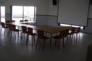 A seminar room in the Räpina Harbour