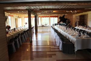 A wedding banquet for 70 in the seminar room