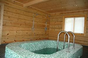 Cold water pool in the sauna