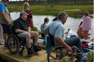 Wheelchair hike in Soomaa
