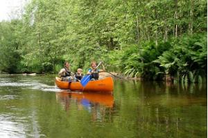 Canoe trip on the Amme River