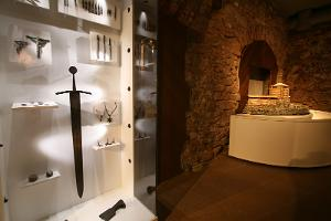 Fragment of the exhibition of the Middle Ages at the Pärnu Museum
