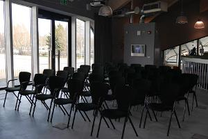 Open seminal area on the first floor, max. 60 chairs in a theatre-style setting