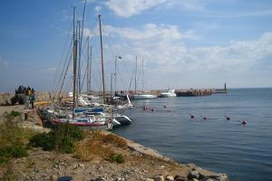 A view of the Naissaar marina