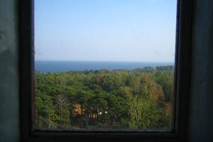 A view from the lighthouse window on Naissaar