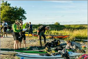The kayak trip starts at Roomassaare on Friday night