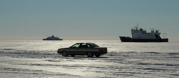 Ice road – the symbol of a great Estonian winter