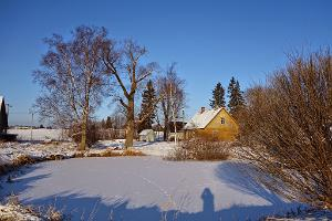 Rebasevälja farm in the winter