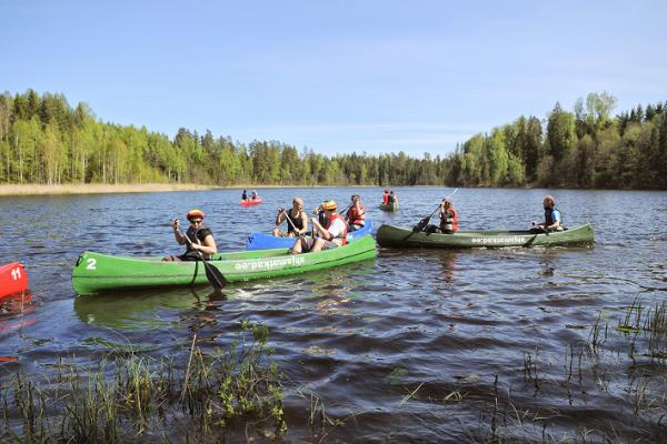 Canoeing on the Kooraste lakes