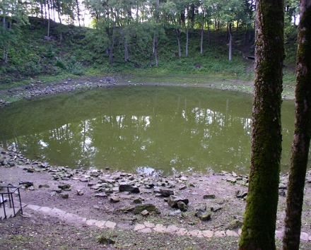 Kaali field of meteorite craters