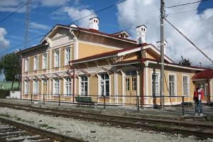 Paldiski railway station main building