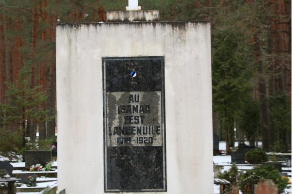 Estonian War of Independence cemetery and monument at Võru cemetery