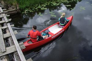 "On a canoe in the ""jungle"" of the River Kõpu"