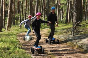 Safaris på motoriserade skateboards