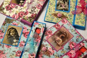 Hand-made postcard workshop at Bonifatius Guild