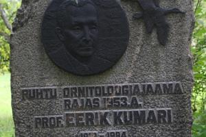 Kirbla terrace and a memorial to Professor Eerik Kumari