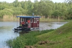 Sauna raft on River Emajõgi