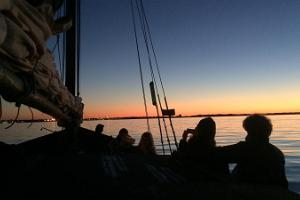 Sea adventure and great food on a wooden yacht Runbjarn / Ruhnu