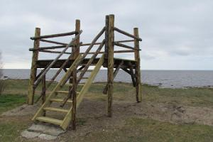 Birdwatching platform at Pikla coast